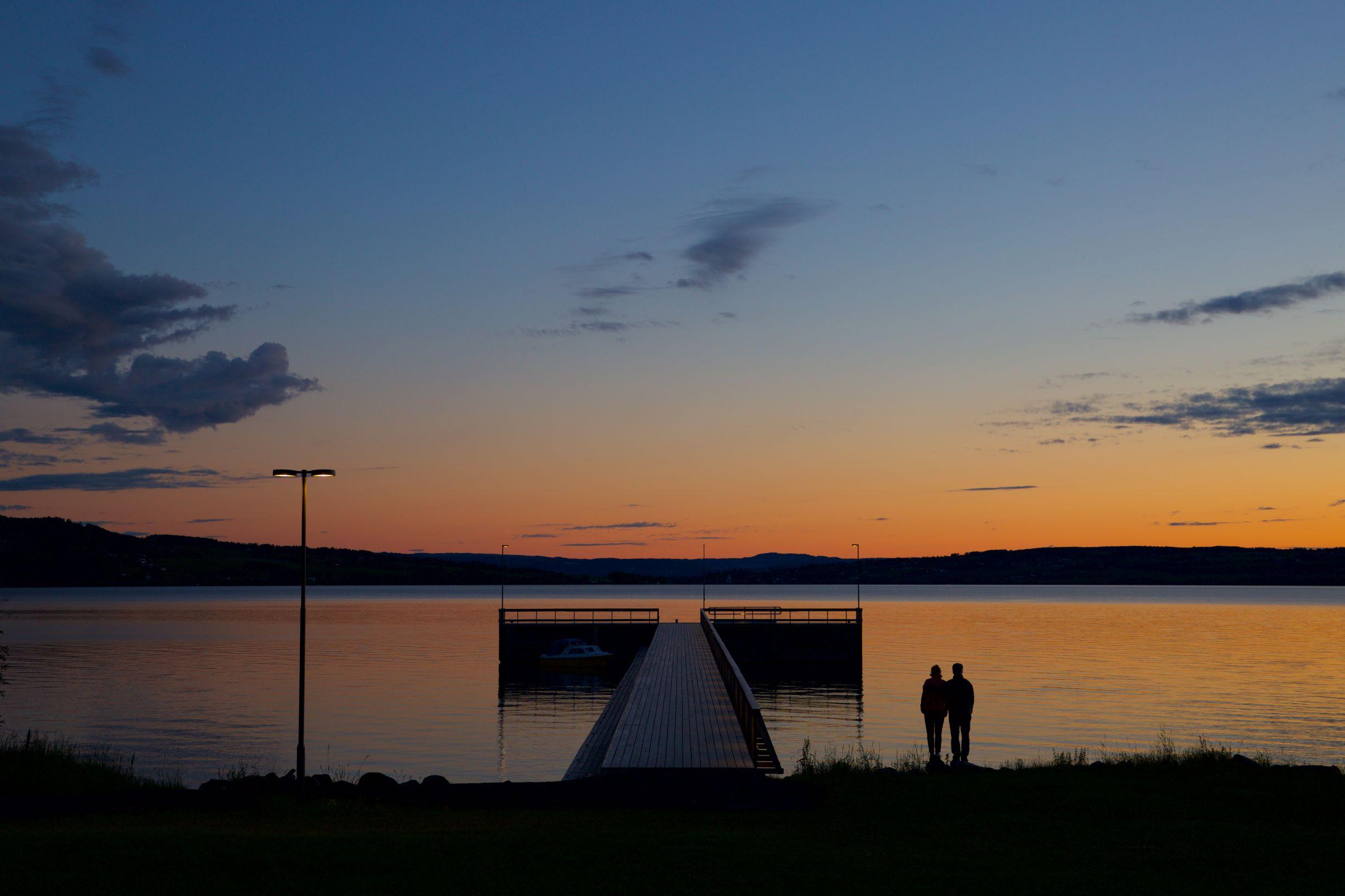 Atlungstad brygge solnedgang